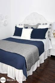 Navy And Grey Bedroom Navy Grey White Custom Designer Bedding Collection Master