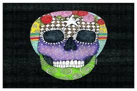 skull area rug sugar skull black area rug eclectic novelty rugs by designs sugar skull area skull area rug