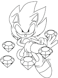 Sonic Printable Coloring Pages Sonic Video Games Printable Coloring