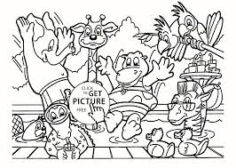 Coloring Pages Of Wild Animals For Preschoolers Great Rainforest