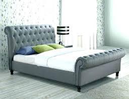 Light Grey Tufted King Bed Dolante Upholstered Frame Gray Size Home ...