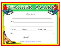 Printable Teachers Appreciation Week Certificates Awards Templates