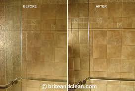hard water stain remover shower door