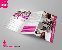 tri fold school brochure template free barber shop tri fold psd brochure template download