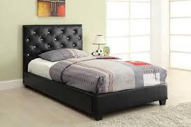 twin platform bed with headboard. Beautiful Twin Twin Platform Bed Headboard Footboard U0026 Rails Black Leathette With Jewel  Accents Throughout Headboard O