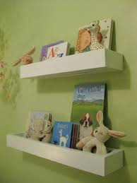 wall shelves for books in the nursery