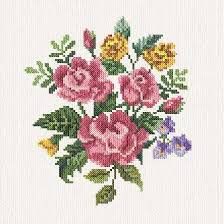 Cross Stitch Flower Patterns Impressive Alyssa`s Flowers Cross Stitch Pattern Flowers