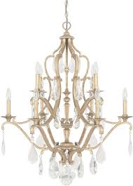 capital lighting 4180ag cr blakely antique gold chandelier lamp with regard to gold crystal chandelier