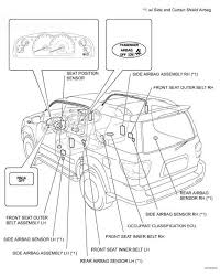 connection of connectors for side airbag sensor and rear airbag camry repair airbag sensor location fig 27 identifying supplemental restraint system parts location 2 of 2 courtesy of toyota motor s u s a inc