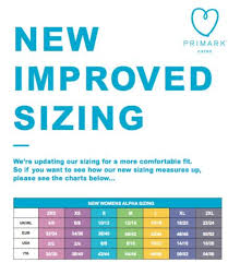 I Heart Raves Size Chart Primark Is Changing Its Sizes And Not Everyone Is Impressed