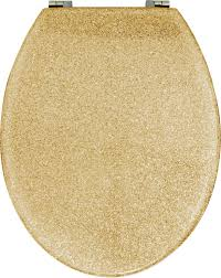 gold plated toilet seat. gold glitter toilet seat (std round) plated