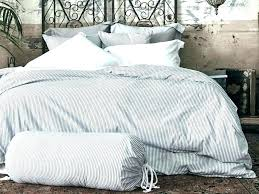 blue ticking bedding navy duvet cover and pillowcases full queen double