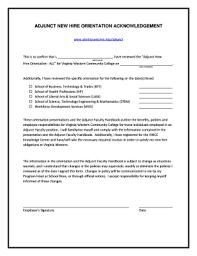 Fillable Online Virginiawestern Adjunct New Hire Orientation
