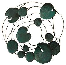 on lotus leaf wall art with green home organic contemporary furnishings
