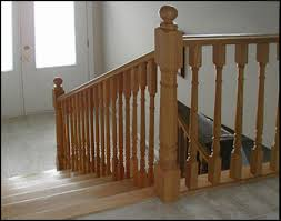 Colonial Wood spindles and balusters for interior handrailing