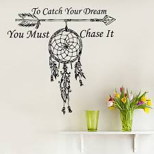Dream Catchers With Quotes fashion Wall Decals Quote To Catch Your Dream Catcher Vinyl 11