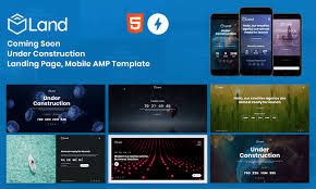 Land Coming Soon Landing Page And Under Construction Template Mobile Google Amp Template Themetidy