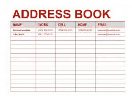 Address Book Template Excel Best Photos Of Phone Directory Template Excel Excel Address Book