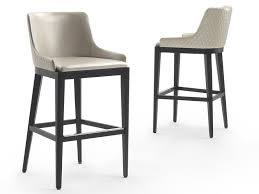 leather barstool with back nicole leather stool by marelli