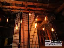 relcaimed wood edison bulb chandelier barn wedding lighting 0 img 8959