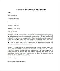 Sample Reference Letter Format 7 Download Free Documents