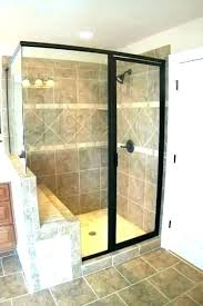 shower with seat walk in enclosures showers seats corner