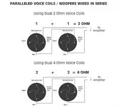 single dvc ohm wiring diagram subwoofer wiring diagram dual 1 ohm subwoofer wiring diagram for dvc subs the wiring diagram on