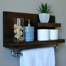 bathroom shelf with towel rack chrome 6 bar bath ikea grundtal stainless steel kitchen rail glass bathroom shelf