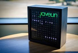 picture of javelin s word clock