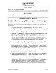 Sample Resume For Housekeeping Supervisor Position Elegant