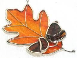 Oak Leaf With Acorn Sun Catcher