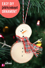 these little diy snowman ornaments are adorable plus they re super easy to make