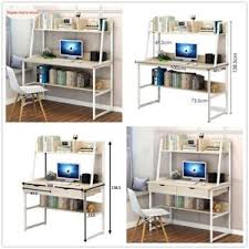 home office table. Image Is Loading Computer-PC-Desk-With-Drawers-Metal-amp-MDF- Home Office Table