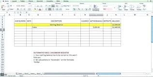 Excel Checkbook Template Free Excel Checkbook Register Bank Reconciliation Template Budget