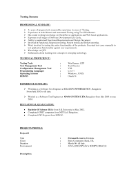 Software Tester Resume Sample Resume Sample