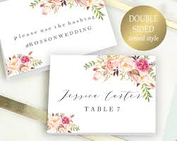 Double Sided Place Cards Printable Place Card Template