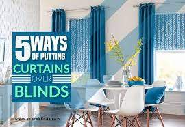 can you put curtains over blinds 5
