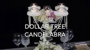 dollar tree inspired candelabra centerpiece diy elegant weddings diy tutorial