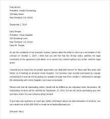 Free Termination Letter Cancellation Letter Template 9 Termination