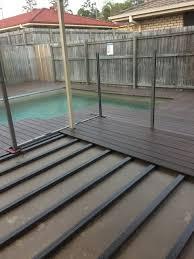 build a floating deck over concrete