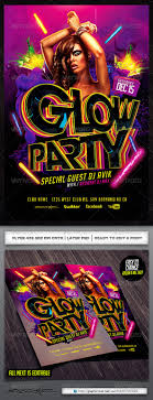 glow flyer glow flyer template by industrykidz graphicriver