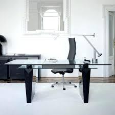 glass home office desk gallery modern small black contemporary furniture s45 contemporary