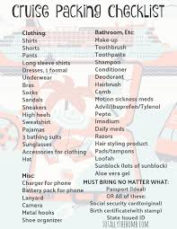 Cruise Packing List Going On A Cruise What Do You Actually Need To Pack