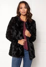 curl long fake fur jacket