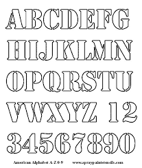 alphabet letters to cut out alphabet stencil free upper case and numbers