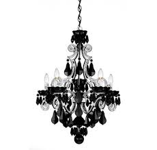 black glass and clear white crystal clear chandelier plus black metal together polished chrome chain