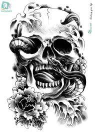Rocooart Lc2811 2115 см большой стикер татуировки хэллоуин жуткий