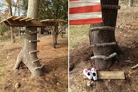 Simple tree house ideas for kids Basic Simpletreehouse01 Handimania How To Make Simple Tree House Diy Crafts Handimania