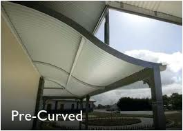 curved corrugated metal roofing