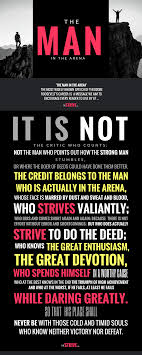 The Quote To Sum Up The Ethos Of The Strive The Man In The Arena